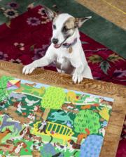 Dogs in the Park Puzzle sold at Red Fish Blue Fish, a Gift Shop on Hyannis Main Street on Cape Cod