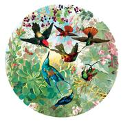 Hummingbirds 500 Piece Round Puzzle sold at Red Fish Blue Fish, a Gift Shop on Hyannis Main Street on Cape Cod