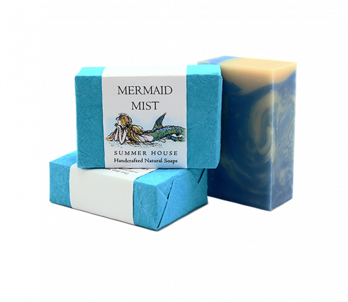 Mermaid Mist Summer House Hand Soap sold at Red Fish Blue Fish, a Gift Shop on Hyannis Main Street on Cape Cod