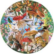 Mushrooms and Butterflies 500 Piece Round Puzzle sold at Red Fish Blue Fish, a Gift Shop on Hyannis Main Street on Cape Cod
