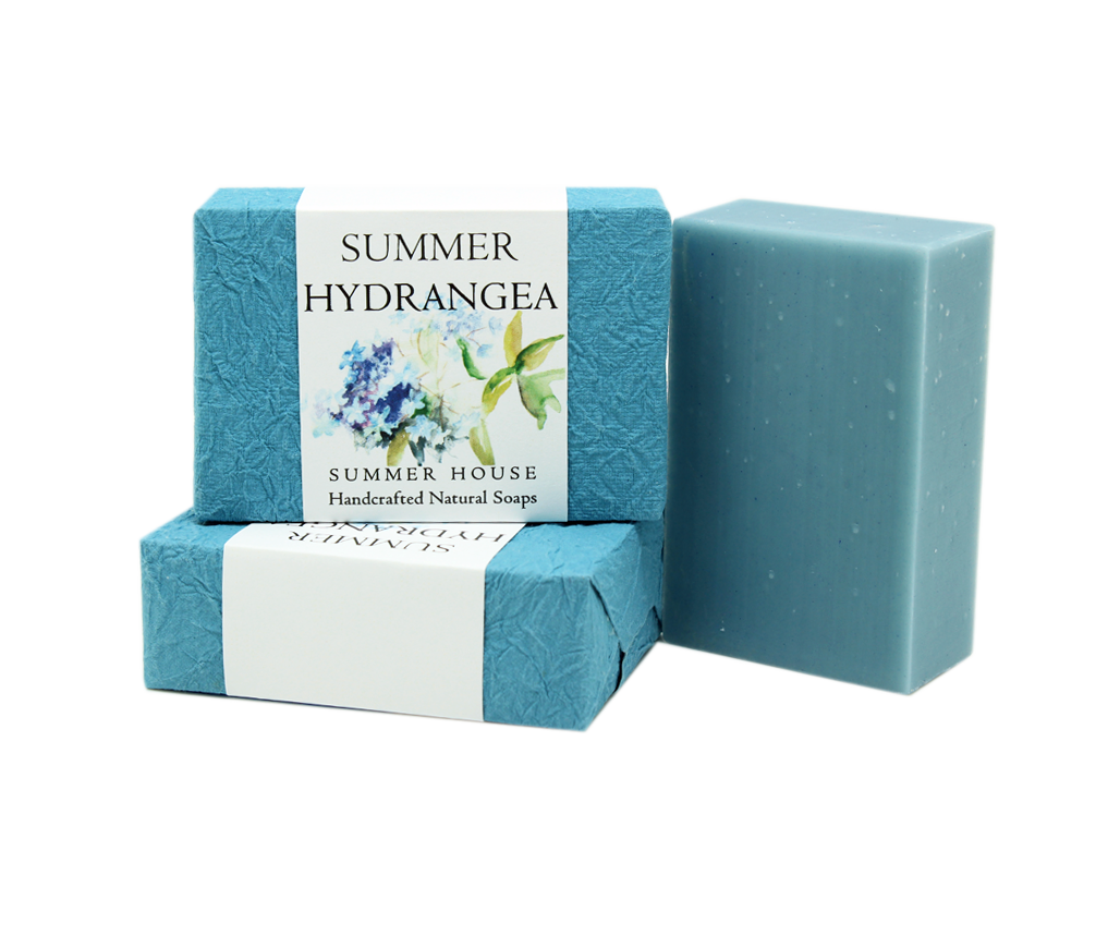 Summer Hydrangea Summer House Hand Soap sold at Red Fish Blue Fish, a Gift Shop on Hyannis Main Street on Cape Cod